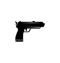 pistol gun flat icon vector image