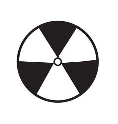 Radiation symbol of activity on white background vector