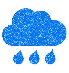 rain weather grunge icon vector image
