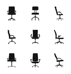 Recliner icons set simple style vector