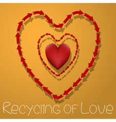 Recycling of love vector image