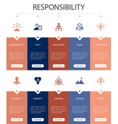 Responsibility infographic 10 option ui design vector