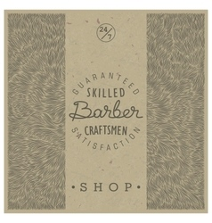 Retro template for Barber Shop vector