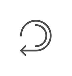 retry arrow line icon vector image