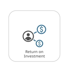 Return on Investment Icon Business Concept Flat vector