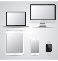 Set of blank screen devices Monitor laptop vector