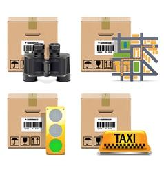 Shipment Icons Set 10 vector
