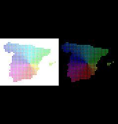 Spectrum dot spain map vector