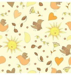 Spring doodles set vector image