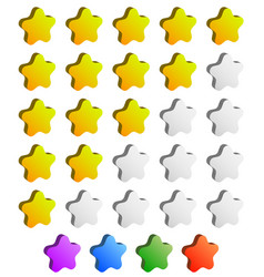 Star rating graphic element for valuation review vector