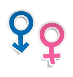 stickers wtih mars and venus symbols vector image