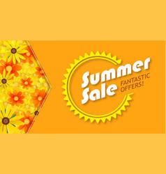 summer sale selling banner hot orange backdrop vector image