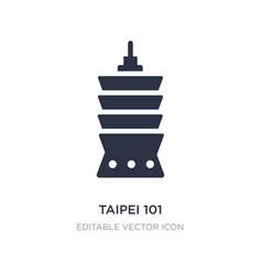 Taipei 101 icon on white background simple vector