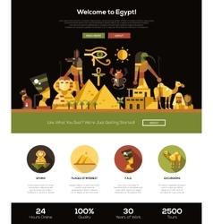 traveling to egypt website header banner vector image