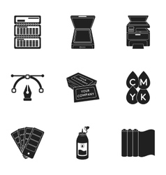 Typography set icons in black style Big vector