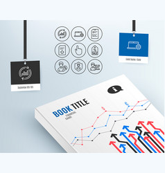 Update data sale coupon and security agency icons vector