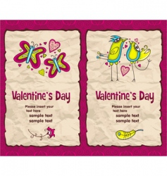 valentines banner vector image
