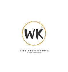 W k wk initial letter handwriting and signature vector