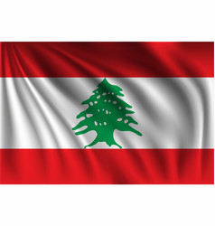 Waving lebanon vector