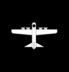 White icon on black background heavy military vector