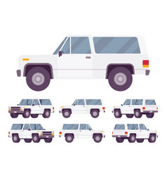 White offroad set vector