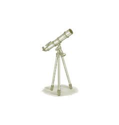 woodcut telescope vector image