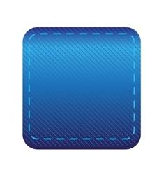 Blue line button vector image