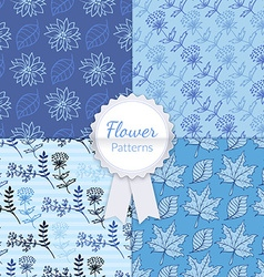 Floral Patterns Set vector image vector image
