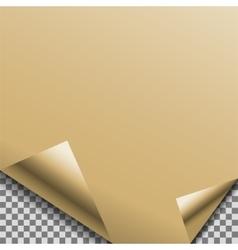 Folded gold foil blank note planner sticker vector image vector image