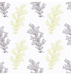 Hand drawn rosemary branch stylized black and vector image