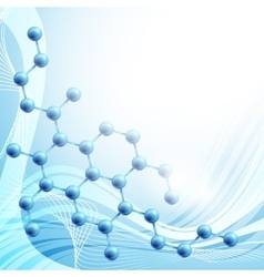 molecule over blue background vector image