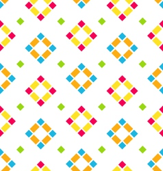 Seamless Pattern with Colored Rhombus Regular vector image