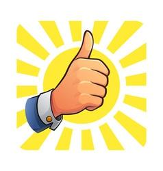 Thumb up of success vector