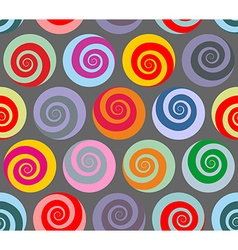 Colorful seamless pattern spiral Retro abstract vector image