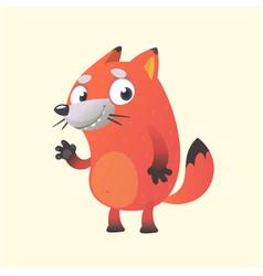 cute cartoon fox mascot vector image
