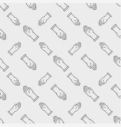 latex gloves seamless pattern vector image