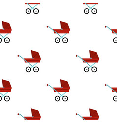 pram baby carriage pattern flat vector image vector image
