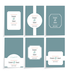set of template cards vector image vector image