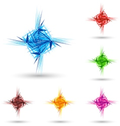 Abstract fluffy star vector image vector image