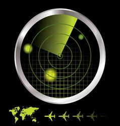 aircraft radar vector image