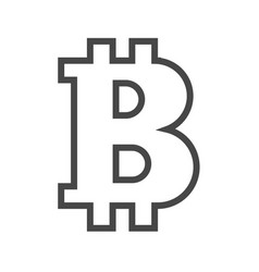bitcoin thin line icon vector image vector image