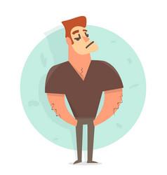 cartoon character man funny vector image vector image