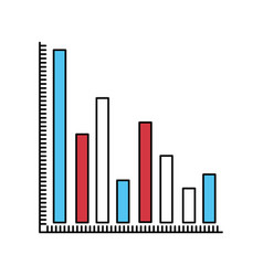 color sectors silhouette of column chart vector image vector image