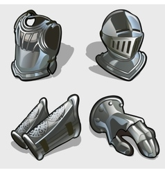 Four elements of knights armor vector image