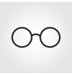 glasses icon flat design vector image vector image