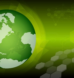 global green technology vector image vector image