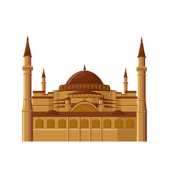 hagia sophia museum in istanbul turkey isolated vector image