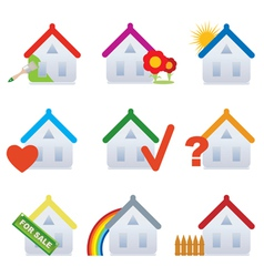 house set vector image vector image