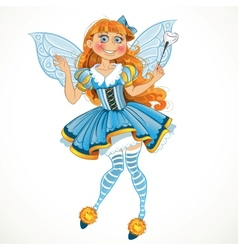 Little tooth fairy with wings vector image