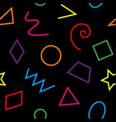Multicolor basic geometrical shapes seamless vector